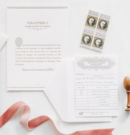 Custom/Couture Letterpress Wedding Invitations