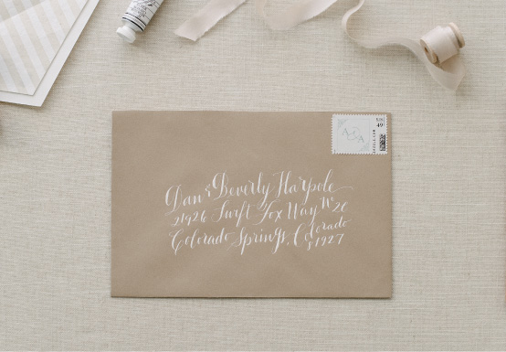 Anatomy of a Wedding Envelope | Calligraphy