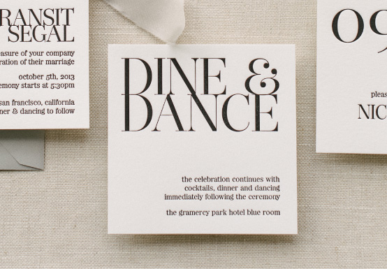 Anatomy of a Reception Card