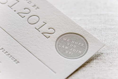 Ace Letterpress Wedding Invitation | Modern