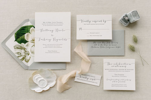 Amherst Letterpress Wedding Invitation | Modern