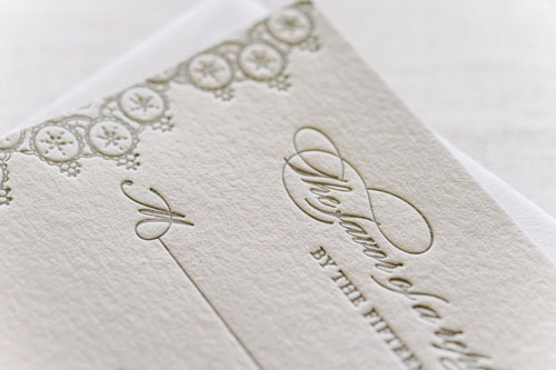 Chantilly Letterpress Wedding Invitation | Classic + Vintage