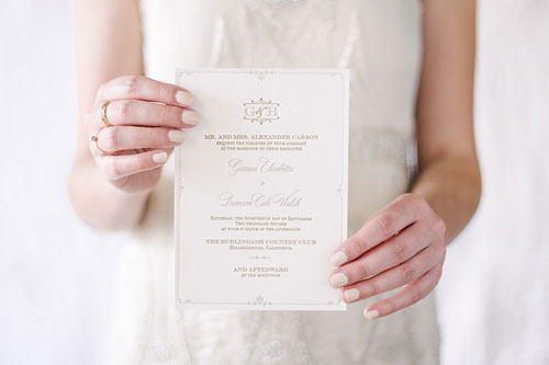 Coventry Letterpress Wedding Invitation | Classic + Vintage