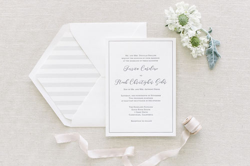 Exquisite Letterpress Wedding Invitation | Classic + Modern