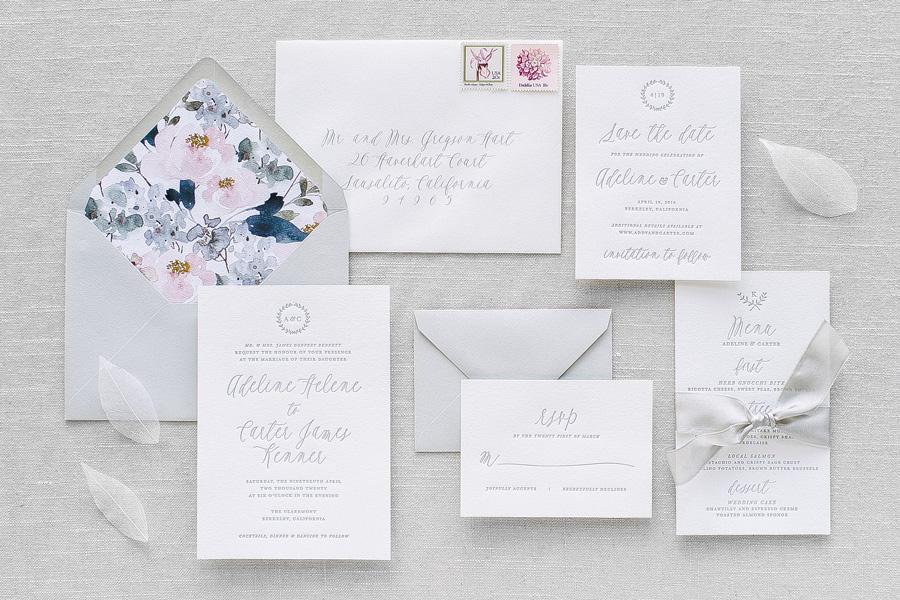 Primrose Letterpress Wedding Invitation | Aerialist Press