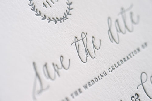 Primrose Letterpress Wedding Invitation | Destination + Modern