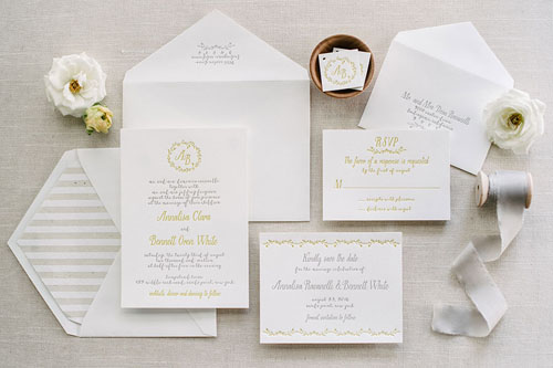 Somerset Letterpress Wedding Invitation | Rustic + Vintage + Whimsical