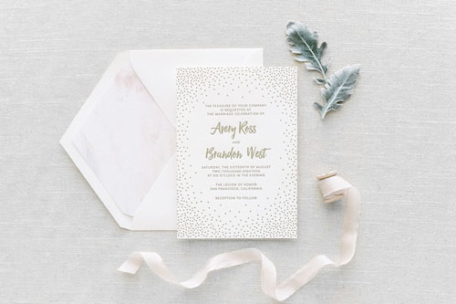Stella Letterpress Wedding Invitation | Modern
