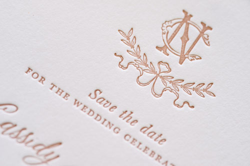 Victoire Letterpress Wedding Invitation | Whimsical + Destination