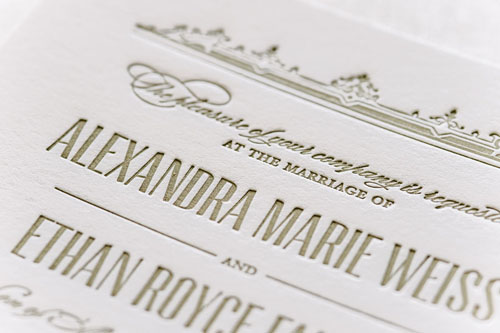 Windsor Letterpress Wedding Invitation | Classic