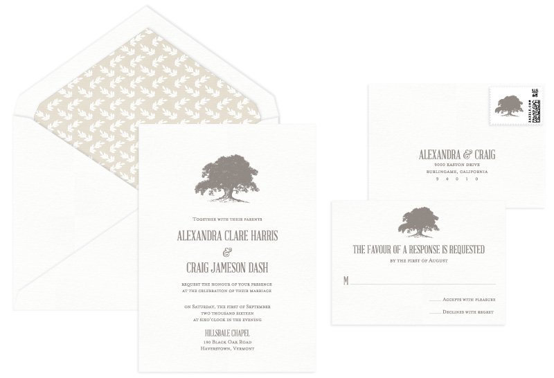 Blair Letterpress Wedding Invitation | Classic + Rustic