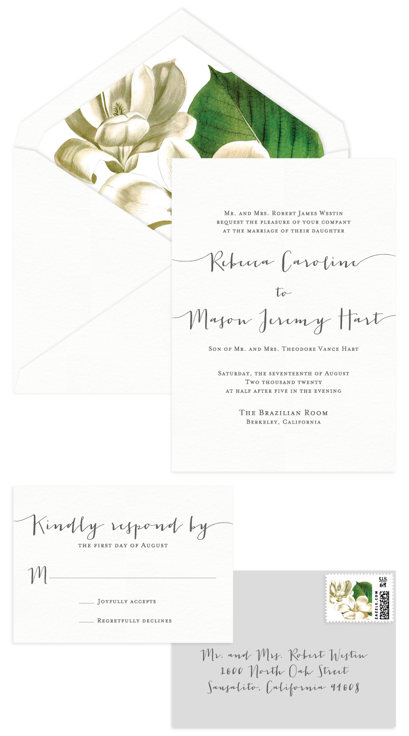 Amherst Letterpress Wedding Invitation