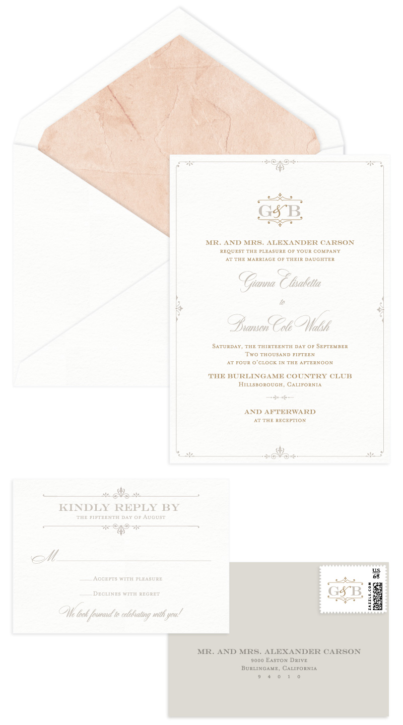 Coventry Letterpress Wedding Invitation