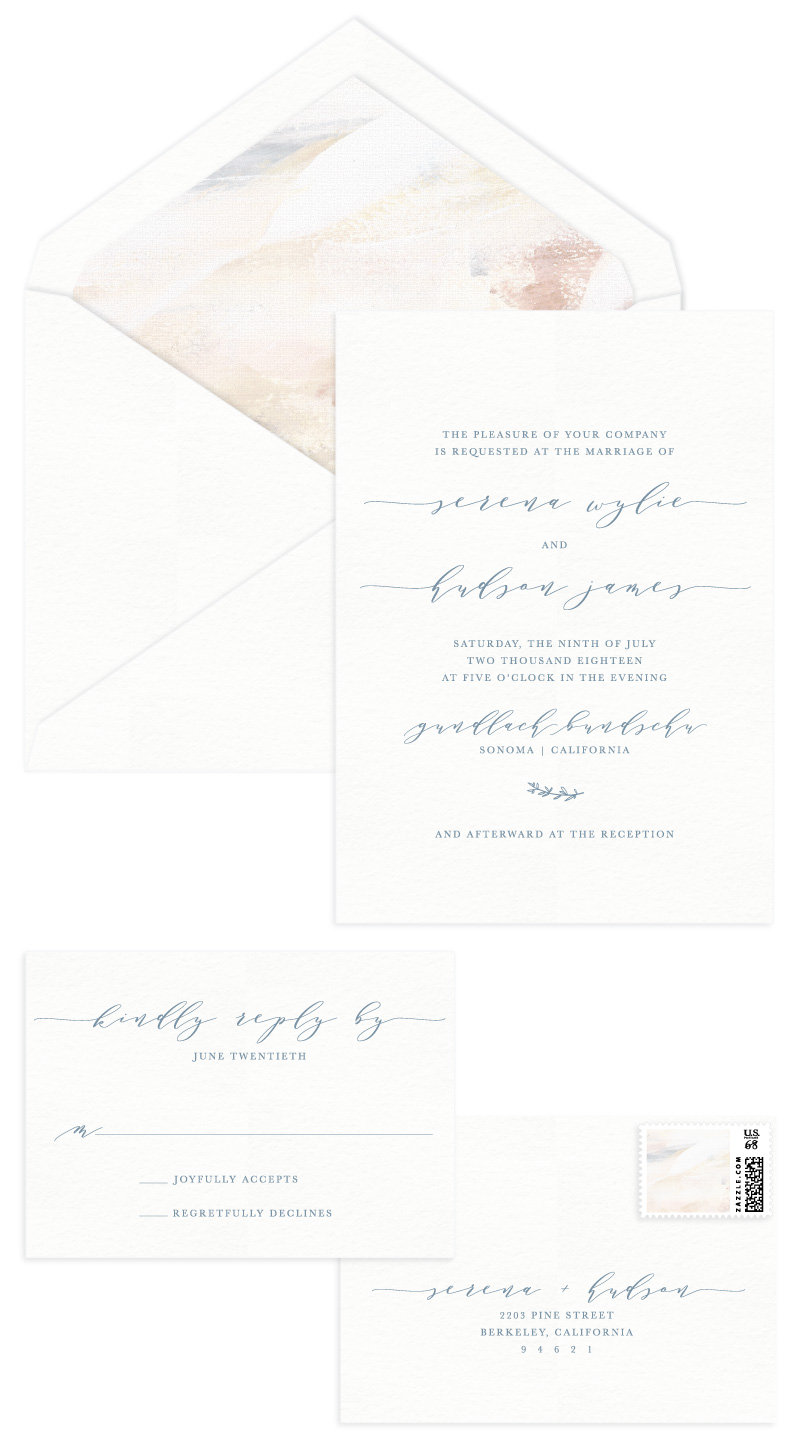 Hudson Letterpress Wedding Invitation
