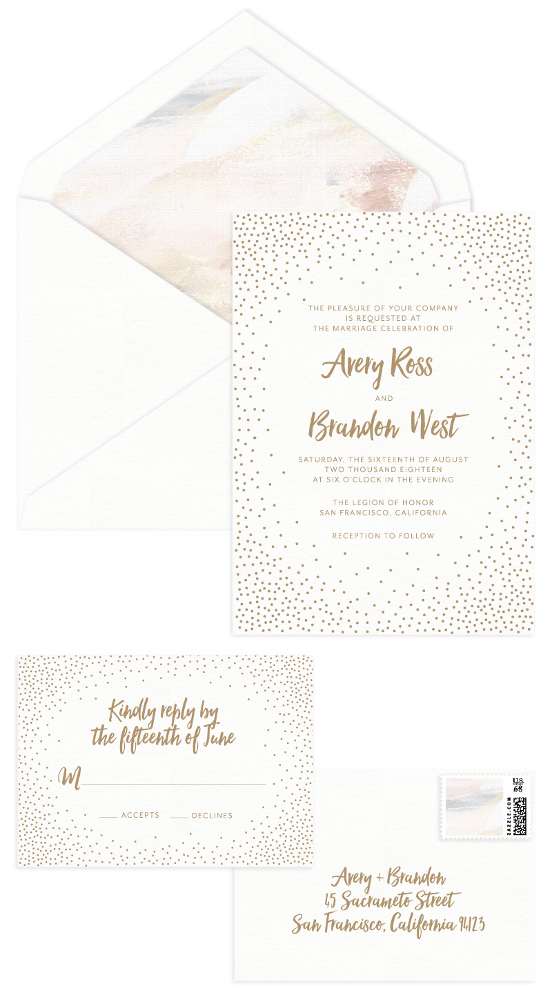 Stella Letterpress Wedding Invitation