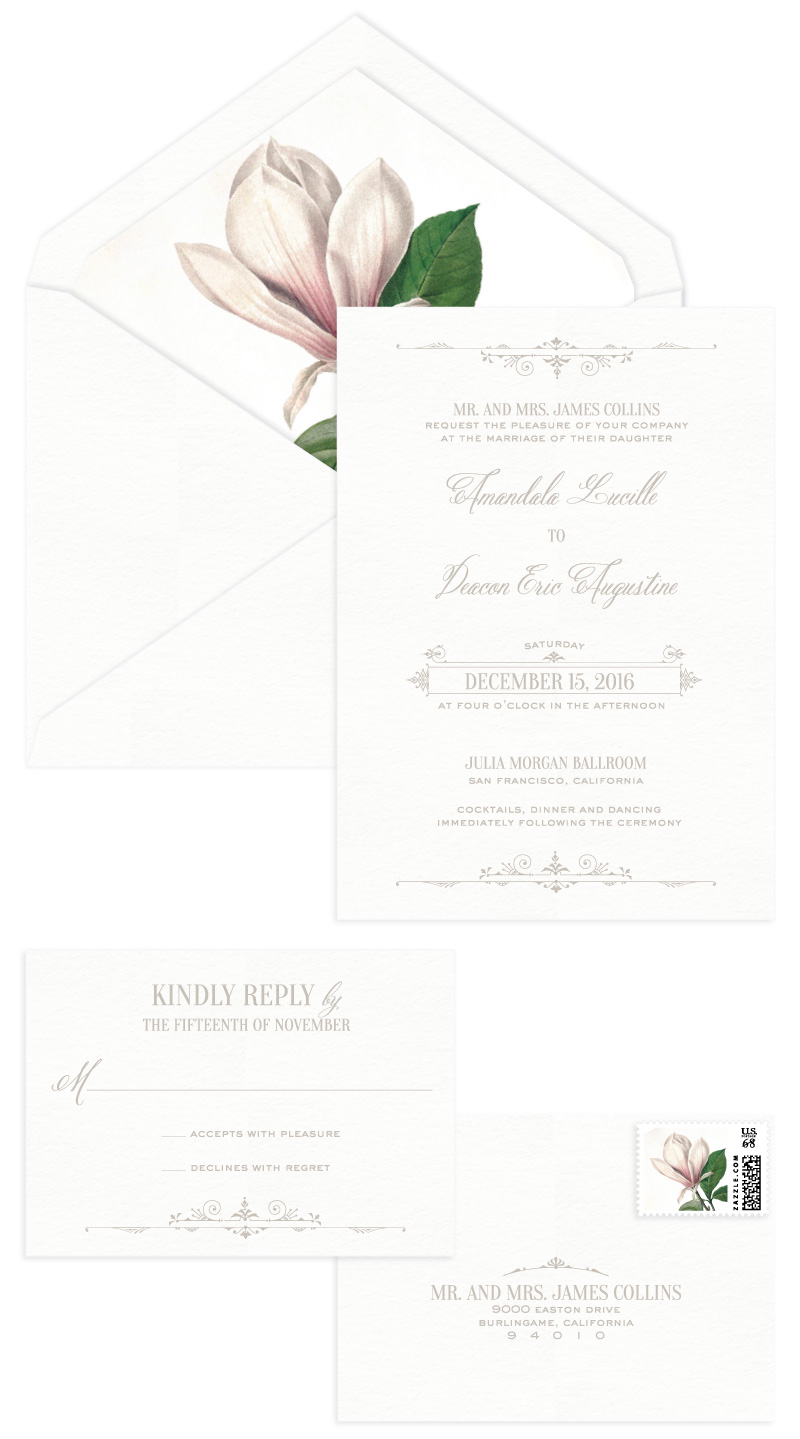 Waldorf Letterpress Wedding Invitation