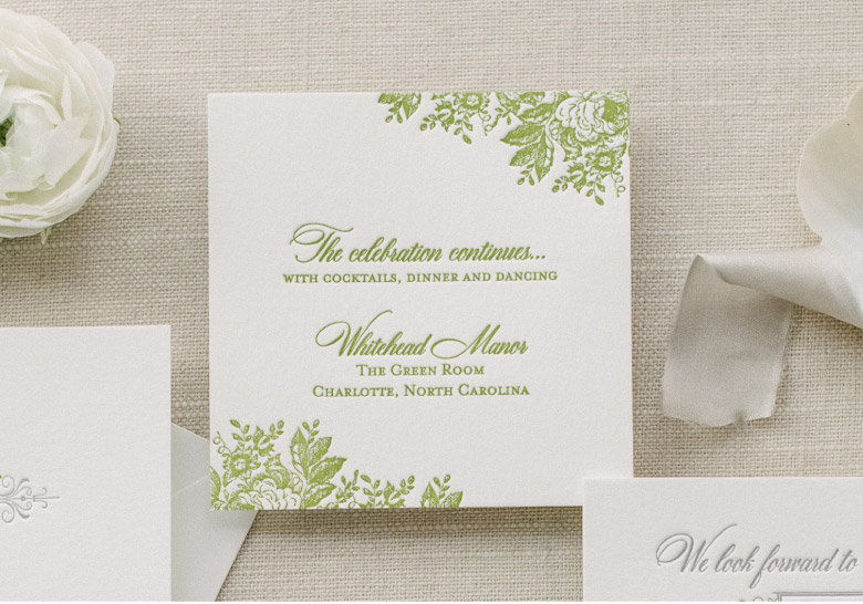 Reception Card Etiquette