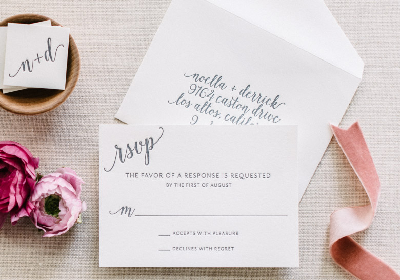 What Is The Etiquette For Wedding Invitations: Reply Card Etiquette